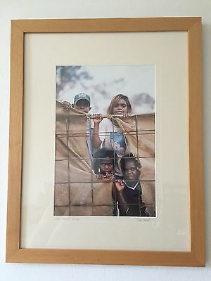 Aboriginal kids in Alice Springs - large framed photograph