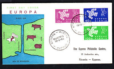Cyprus 1962 Europa First Day Cover