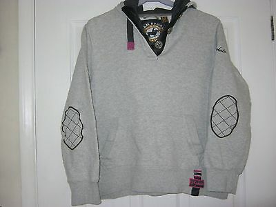 girls grey hooded top size 11/12 yrs