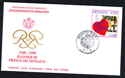 Monaco 1999 Aid And Presence First Day Cover