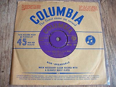 """Ruby Murray, It Only Hurts For A Little While, Uk Gold Columbia Vinyl 7"""" 45/1956"""
