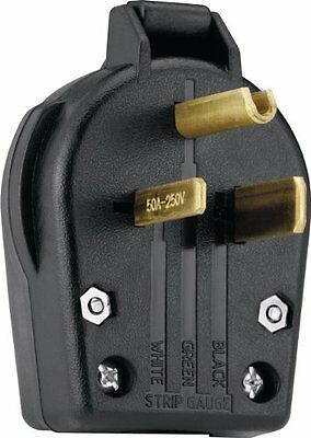 Eaton S42-SP Commercial Grade Angle Vinyl Power Plug with 30/50-Amp, 250-Volt, 6
