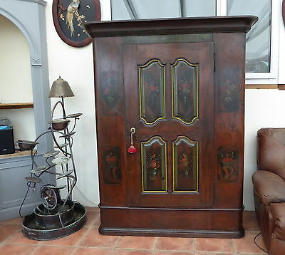 German Painted Pine Hall Cupboard /bookcase  1796 Free Shipping