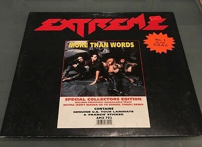 """Extreme - More Than Words 12"""" Limited Collectors Pack With Laminate Tour Pass"""