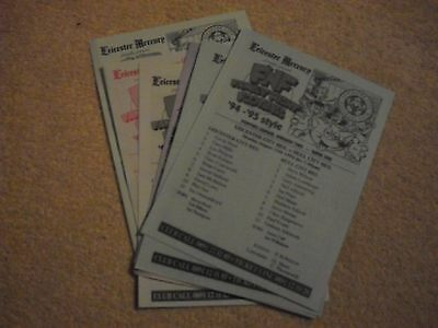1994-95 Leicester City Reserves 12 Team sheets Programmes job lot collection