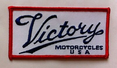 """Victory motorcycle 4"""" r/w/b rectangle logo patch.NICE!!NEW"""