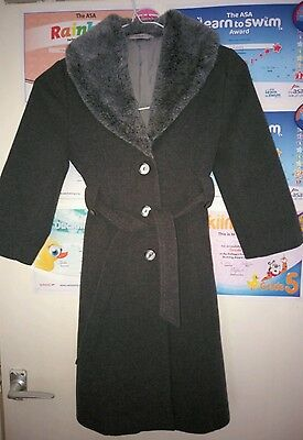 girls age 6 marks and spencer long wool dress coat, immaculate