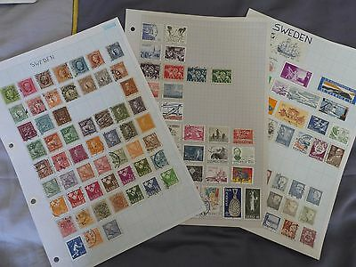 Sweden collection of stamps - 3 pages = 132 stamps