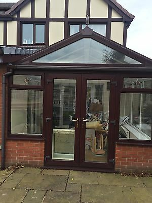 Rosewood On White Conservatory With Doors