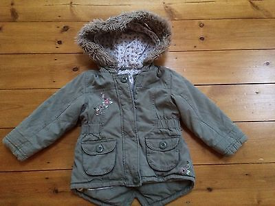 Girls Padded Winter Coat Aged 2-3 Years 💗Great Condition💗