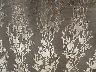 21.625 yds Arc Com Upholstery Fabric Provence Floral Velvet Gold 60673-04 AO10