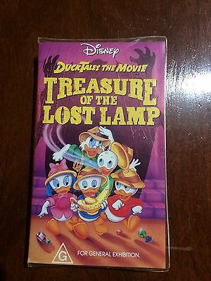 Disney Duck Tales The Movie Treasure Of The Lost Lamp Vhs Video Tape