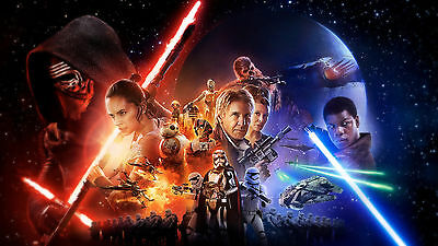 Poster 42x24 cm Star Wars Capitulo Chapter 7