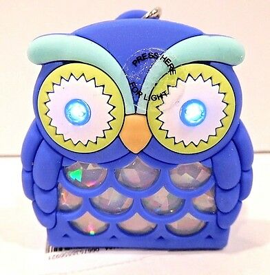 Bath & Body Works Blue Boy Owl Light Up Pocketbac Sanitizer Holder Sleeve New!
