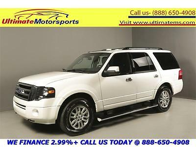 """2012 Ford Expedition Limited Sport Utility 4-Door 2012 FORD EXPEDITION LIMITED 4x4 NAV DVD SUNROOF LEATHER 18""""ALLOYS WHITE PEARL"""