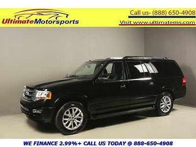 2016 Ford Expedition  2016 FORD EXPEDITION EL LIMITED 4x4 NAV SUNROOF LEATHER BLACK WARRANTY