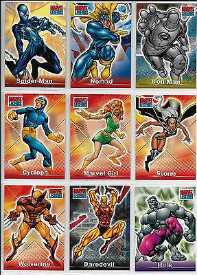 Marvel Legends COSTUME CHANGE LEVEL A Complete cc1-cc9 Insert Chase Card Set