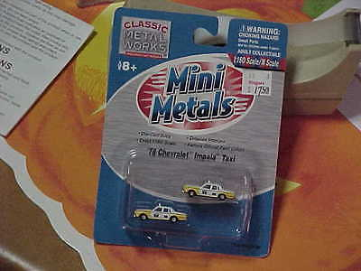 mini metals..n scale..stock #50236..78 checy impala taxi's..in mint bubble pack