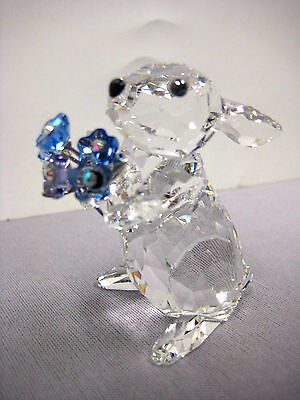 Rabbit With Forget-Me-Not Flowers 2013 Swarovski  #1142953