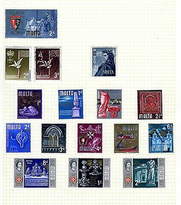 4 pages of Malta  20th century stamps