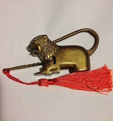 Vintage Brass Lion Lock