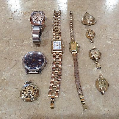 VINTAGE  and COLLECTIBLE LADIES WATCHES - LOT OF 9