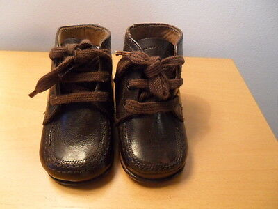 Antique Leather Baby Shoes Marked 6