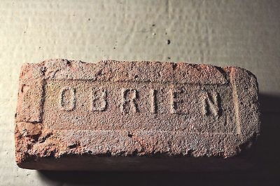 "Antique  Brick  ""obrien"" From New York  Small Letters"