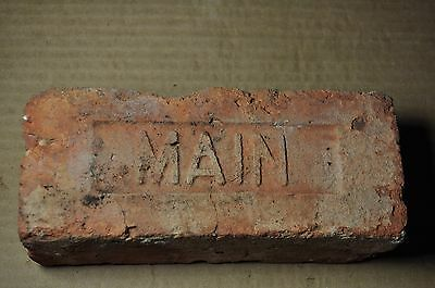 "Antique  Brick  ""m A I N"" From New York"