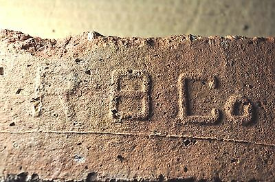 """ANTIQUE EARLY PRIMITIVE BRICK  """"R B C o"""" FROM NEW YORK"""
