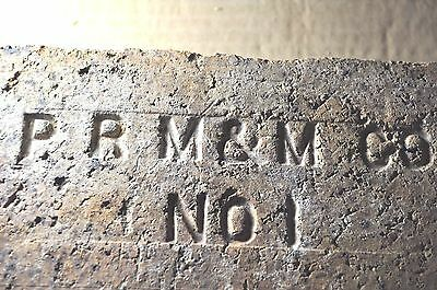 "Antique  Fire  Brick  ""p R M & M  Co   No 1""  Parker Russel Mining And Manuf."