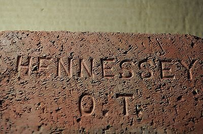 "Antique Brick ""hennessey  O. T.""  Oklahoma Territory,  Before It Became A State"