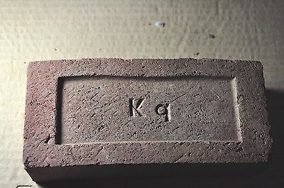 "Antique Brick ""k  Q"" In A Shallow Frog  Kushequa Brick Co. Penn."