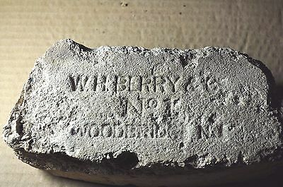 "Antique Very Early Fire Brick  ""w. H. Berry & Co.  No. 1  Woodbridge, N.j."""