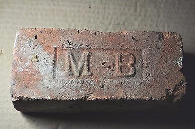 """Antique Brick  """"m   B""""  Very Large Letters From New York"""