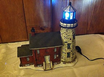 Lighted Lighthouse W/Rotating light Charlotte-Genesee 2007-Blue Water Collection