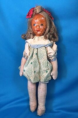 Vintage Lotte Sievers Hahn? Cloth Doll w/ Clothes