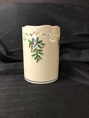 Lenox Holiday Stamped Pillar Candle Holder