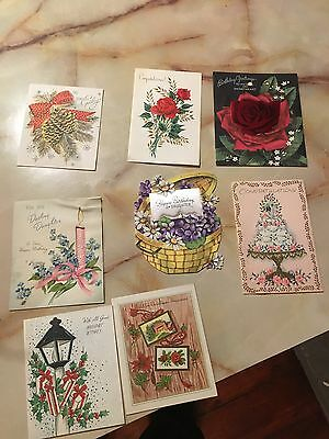Vintage A Lot Of Birthday Christmas Holiday Wedding Greeting Cards