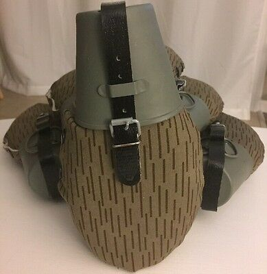 1) N.O.S Unissued German Army DDR canteen w/ aluminum cup & rain camo cover