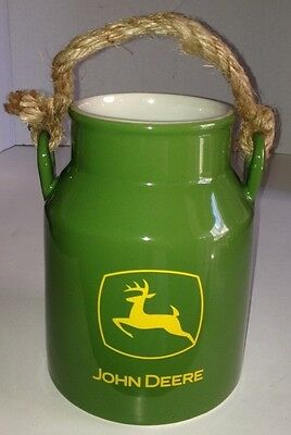 Collectible John Deere Stoneware Milk Can