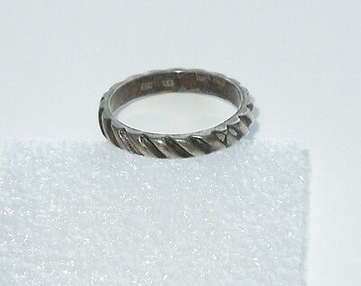 Antique Sterling Silver Wedding Style Ring Band  Sz 5