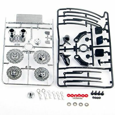 Fit 1:10 Scale RC Racing On Road Drift Car Dummy Brake Disc Exhaust Pipe Set