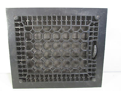 "Vintage Cast Iron Honeycomb Floor Grate with Damper 14"" x 12"" ASG#20"