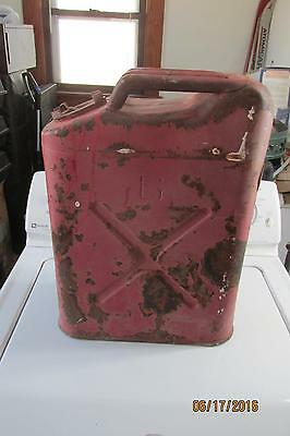 Vintage Red Army Gas Can Marked G,  Jerry Can