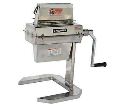 NEW UNIWORLD MEAT TENDERIZER HAND CRANK OR ATTACHMENT STAINLESS STEEL mta74