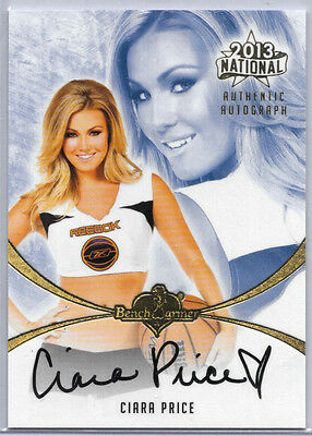 2013 13 Benchwarmer National Ciara Price Auto Autograph On Card Playboy Playmate