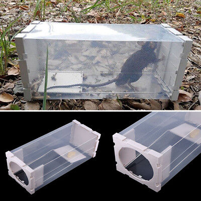 Humane Rat Trap Cage Animal Pest Rodent Mice Mouse Control Bait Catch Capture ZY