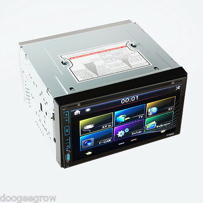 """6.95"""" Capacitive Touch screen Car 2DIN Stereo player USB/SD/FM/AM/DVD/MP3/AUX-IN"""