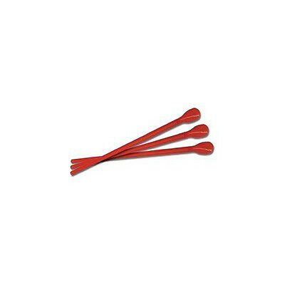Case of 200 Red Spoon Straws Concession Use Vendors Restaurants Parties